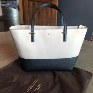 Kate Spade Black and Taupe Tote